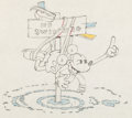 Animation Art:Production Drawing, On Ice Mickey Mouse Production Drawing (Walt Disney,1935)....