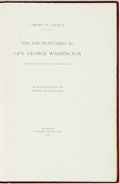 Books:Americana & American History, [Americana]. Aids and Secretaries to Gen. George Washington.Series of printed manuscripts, with captioned tissue gu...