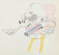 Animation Art:Production Drawing, Moose Hunters Goofy Production Drawing (Walt Disney,1937)....