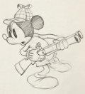 Animation Art:Production Cel, Lonesome Ghosts Mickey Mouse and Donald Duck Production Drawing Group (Walt Disney, 1937).... (Total: 2 Original Art)