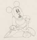 Animation Art:Production Drawing, The Brave Little Tailor Mickey Mouse Production Drawing (Walt Disney, 1938)....
