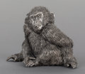 Silver Smalls:Other , AN ITALIAN SILVER MONKEY, Buccellati, Milan, Italy, 20th century.Marks: Buccellati, 925, ITALY. 4-1/8 inches high (10.5...