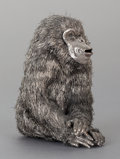 Silver Smalls:Other , AN ITALIAN SILVER MONKEY, Buccellati, Milan, Italy, 20th century.Marks: Buccellati, 925, ITALY. 4 inches high (10.2 cm)...