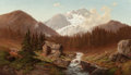 Paintings, WILLIAM SHERIDAN YOUNG (German/American, d. 1870). Abandoned River Camp, 1865. Oil on canvas. 21 x 36 inches (53.3 x 91....