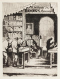 Fine Art - Work on Paper:Print, EARL HORTER (American, 1881-1940). The Bookshop, 1933. Etching with aquatint. 7-3/4 x 5-3/4 inches (19.7 x 14.6 cm) (pla...