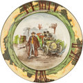 "Transportation:Automobilia, Royal Doulton ""The Motorist"" Series Small 7.38"" Soup Bowl..."