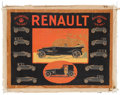 Transportation:Automobilia, Rare Original 1920's Renault Poster Artwork By Roger Broders ...