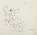 Animation Art:Production Drawing, Polar Trappers Goofy Production Drawing (Walt Disney, 1938)....