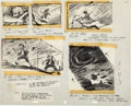 Animation Art:Production Drawing, Ben and Me Animation Storyboard Drawing Group by Bill Peet(Walt Disney, 1953).... (Total: 2 Items)