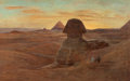 Fine Art - Painting, European:Antique  (Pre 1900), EUGÈNE-ALEXIS GIRADET (French, 1853-1907). The Sphinx. Oilon canvas. 27 x 43 inches (68.6 x 109.2 cm). Signed lower rig...