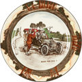 "Transportation:Automobilia, Royal Doulton ""The Motorists"" Series Small 9.63"" Dinner Plate ..."