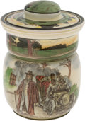 "Transportation:Automobilia, Royal Doulton ""The Motorists"" Series Biscuit Jar With Cover..."