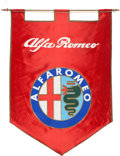 Transportation:Automobilia, 1970's Alfa Romeo Advertising Banner / Flag ...