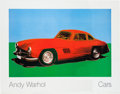 "Transportation:Automobilia, ""Cars"" By Andy Warhol - Large Original Poster Featuring A MercedesBenz 300SL..."