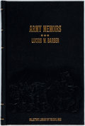 Books:Americana & American History, Lucius W. Barber. Army Memoirs. New York: Time Life, 1984.Reprint of the 1894 edition. Octavo. Publisher's embossed...