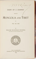 Books:Travels & Voyages, William Woodville Rockhill. SIGNED. Diary of a Journey ThroughMongolia and Tibet in 1891 and 1892. Washington: Publ...