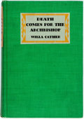 Books:Literature 1900-up, Willa Cather. Death Comes for the Arch-Bishop. New York:Knopf, 1928. First edition. Octavo. Publisher's binding wit...