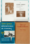 Books:Sporting Books, Zane Grey. Group of Three Books on Angling. 1924-1986. Octavos. Publisher's bindings, Adventures in Fishing and Tales ... (Total: 3 Items)