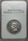 U.S. Presidents & Statesmen, 1866 Andrew Johnson Campaign Medal MS64 NGC. DeWitt-AJOHN-1866-4.White metal....