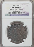 Bust Half Dollars: , 1827 50C Square Base 2 -- Artificially Toned -- NGC Details. UNC.NGC Census: (4/459). PCGS Population (24/331). Mintage: 5...