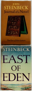 Books:Literature 1900-up, John Steinbeck. East of Eden [and:] Journal of a Novel:The 'East of Eden' Letters. New York: Viking Press, ... (Total:2 Items)
