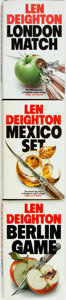 Books:Mystery & Detective Fiction, Len Deighton. Three Books in the Game, Set & Match Trilogy.Includes: Berlin Game; Mexico Set; London Match. Hutchin...(Total: 3 Items)