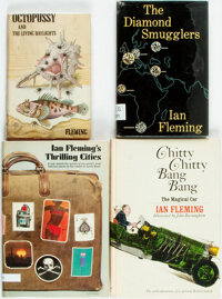 Ian Fleming. Group of Four Books. Includes: Octopussy and the Living Daylights. ADVANCE UNCO