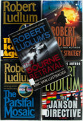 Books:Mystery & Detective Fiction, Robert Ludlum. SIGNED. Group of Five First Editions. Includes:The Icarus Agenda, The Janson Directive, The Bourne Betr...(Total: 5 Items)