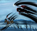 Animation Art:Concept Art, Mary Blair The Adventures of Ichabod and Mr. Toad HeadlessHorseman and Ichabod Concept Painting Art (Walt Disney,...