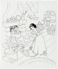 Animation Art:Production Drawing, Snow White Book Illustration Original Art Group (Walt Disney,1994).... (Total: 3 Original Art)