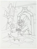 Animation Art:Production Drawing, Beauty and the Beast Book Illustration Original Art Group(Walt Disney, 1994).... (Total: 2 Original Art)