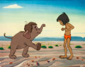 Animation Art:Production Cel, The Jungle Book Mowgli and Junior Production Cel (WaltDisney, 1967)....