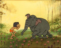 Animation Art:Production Cel, The Jungle Book Mowgli and Colonel Hathi Production Cel(Walt Disney, 1967). ...
