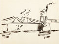 Animation Art:Production Drawing, Melody Time Storyboard/Concept Drawing Group (Walt Disney,1948).... (Total: 3 Items)