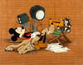 Animation Art:Production Cel, Mickey Mouse, Pinocchio, Pluto, and Figaro Publicity CelCourvoisier Setup (Walt Disney, 1940)....