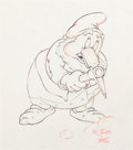 Animation Art:Production Drawing, Snow White and the Seven Dwarfs Happy Production Drawing(Walt Disney, 1937)....
