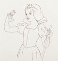 Animation Art:Production Drawing, Snow White and the Seven Dwarfs Snow White ProductionDrawing (Walt Disney, 1937)....