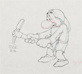 Animation Art:Production Drawing, Snow White and the Seven Dwarfs Grumpy Production Drawing(Walt Disney, 1937)....