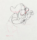 Animation Art:Production Drawing, Snow White and the Seven Dwarfs Doc Animation Drawing (Walt Disney, 1937)....