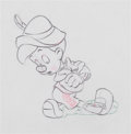 "Animation Art:Production Drawing, Pinocchio ""I've Got No Strings"" Animation Drawing (WaltDisney, 1940)...."