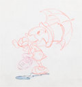 Animation Art:Production Drawing, Pinocchio Jiminy Cricket Animation Drawing (Walt Disney,1940)....