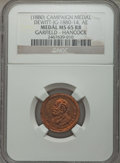 U.S. Presidents & Statesmen, 1880 James Garfield Campaign Medal MS65 Red and Brown NGC.DeWitt-JG-1860-14. Copper....