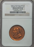 U.S. Presidents & Statesmen, 1868 Horatio Seymour Campaign Medal MS65 Red and Brown NGC.DeWitt-HS-1868-7. Copper....