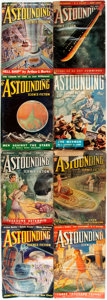 Books:Science Fiction & Fantasy, [Pulps]. Eight Issues of Astounding Science-Fiction. Street & Smith Publications, 1938. Publisher's printed wrappers... (Total: 8 Items)