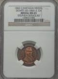 U.S. Presidents & Statesmen, 1860 Stephen Douglas Campaign Medal MS65 NGC. DeWitt-SD-1860-3.Copper-nickel....