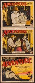 "Movie Posters:Adventure, Adventure (Paramount, 1925). Title Lobby Card & Lobby Cards (2)(11"" X 14""). Adventure.. ... (Total: 3 Items)"