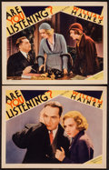 "Movie Posters:Crime, Are You Listening? (MGM, 1932). Lobby Cards (2) (11"" X 14"").Crime.. ... (Total: 2 Items)"