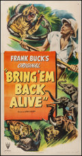 "Movie Posters:Adventure, Bring 'Em Back Alive (RKO, R-1948). Three Sheet (41"" X 79"").Adventure.. ..."