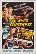 "Movie Posters:Adventure, White Huntress (American International, 1957). One Sheet (27"" X41"") & Lobby Card Set of 8 (11"" X 14""). Adventure.. ... (Total:9 Item)"