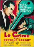 """Movie Posters:Hitchcock, Dial M for Murder (Warner Brothers, R-1960s). French Affiche (22"""" X 30.25""""). Hitchcock.. ..."""